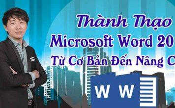 Khóa học thành thạo Microsoft Word 2013 từ cơ bản đến nâng cao