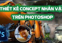Khóa học thiết kế Concept nhân vật trên Photoshop