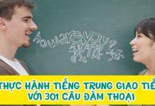 Thực hành tiếng Trung giao tiếp với 301 câu đàm thoại